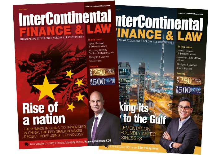 Inter Continental Finance magazine covers - ICD