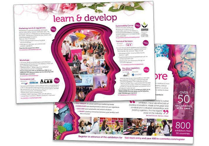 Image Creative Design In-cosmetcis brochures