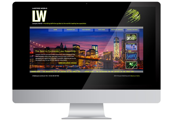 Lawyers World website design - ICD