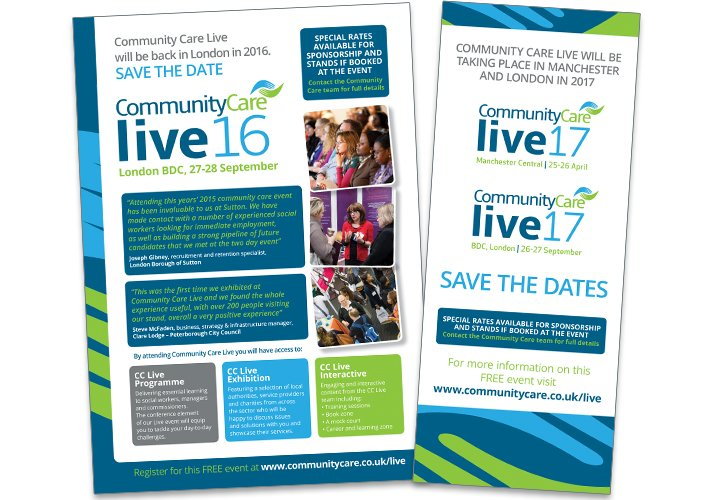 Community Care Live advertising & exhibition banners - ICD