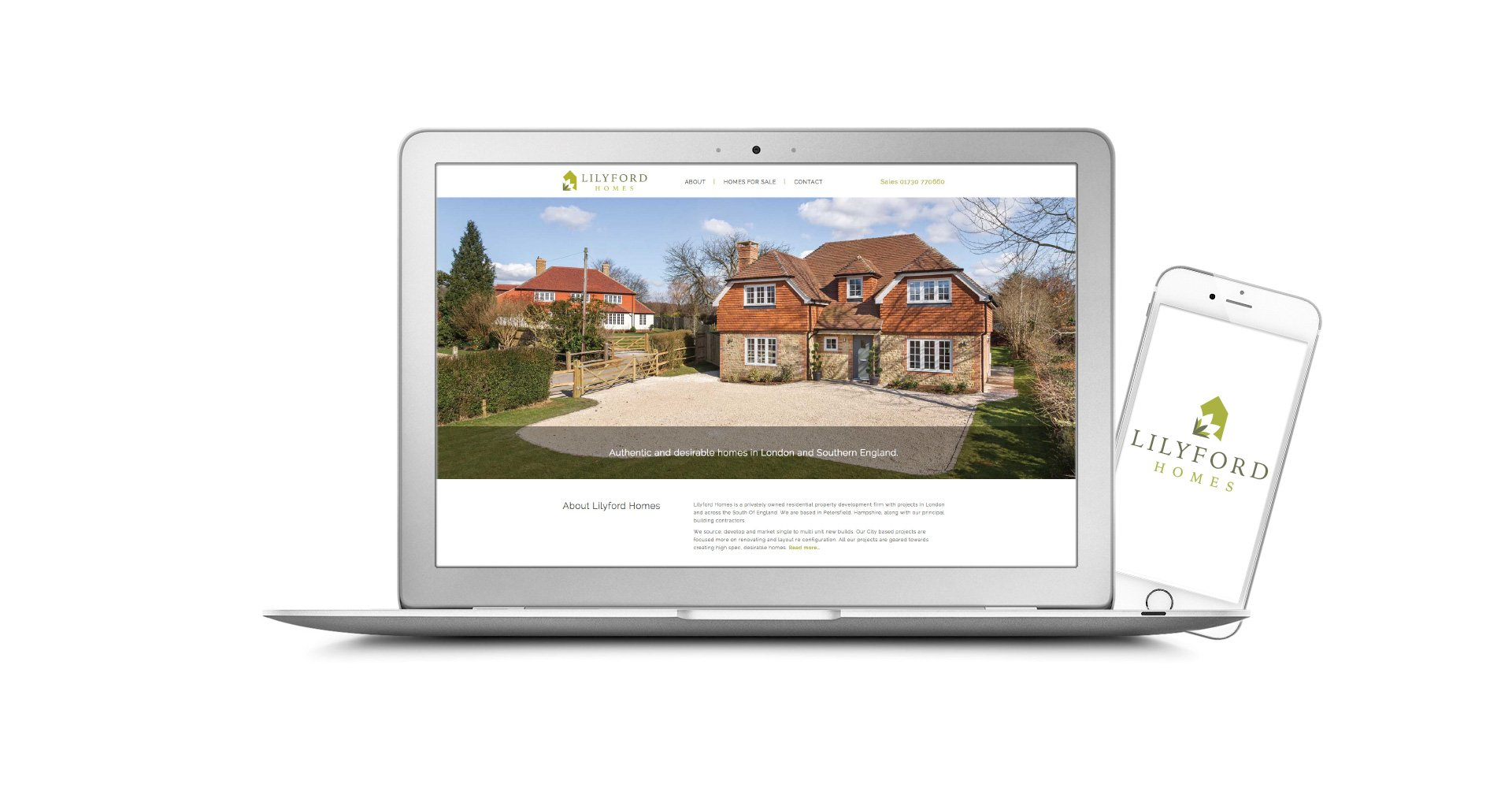 Lilyford Homes Responsive Website Designed by Image Creative Design