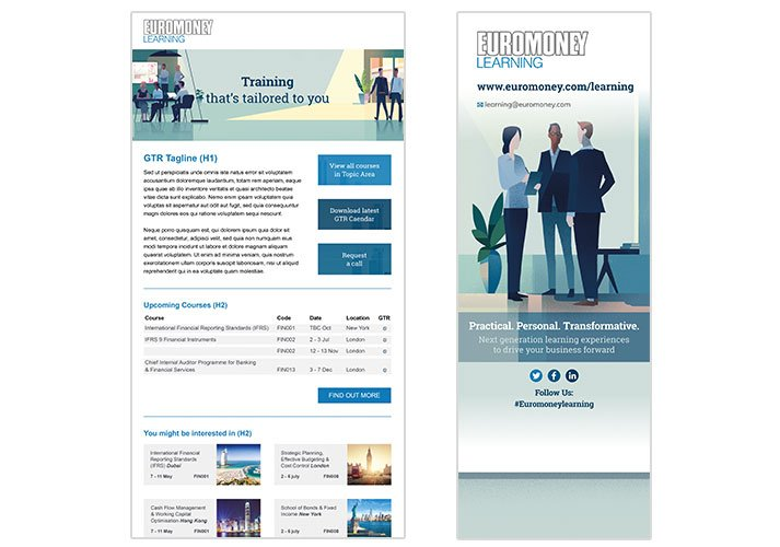 Euromoney Email template and Pop up Exhibition Banner