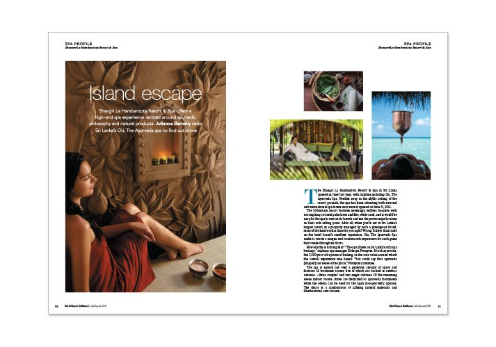 World Spa & Wellness Magazine Brochure Spread