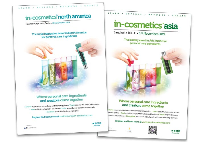 in-cosmetics test tube advertising