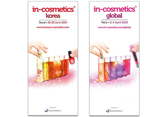 in-cosmetics test tube exhibition benners