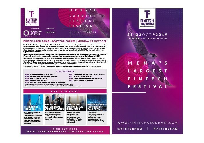 Fintech Advertising and exhibition banner
